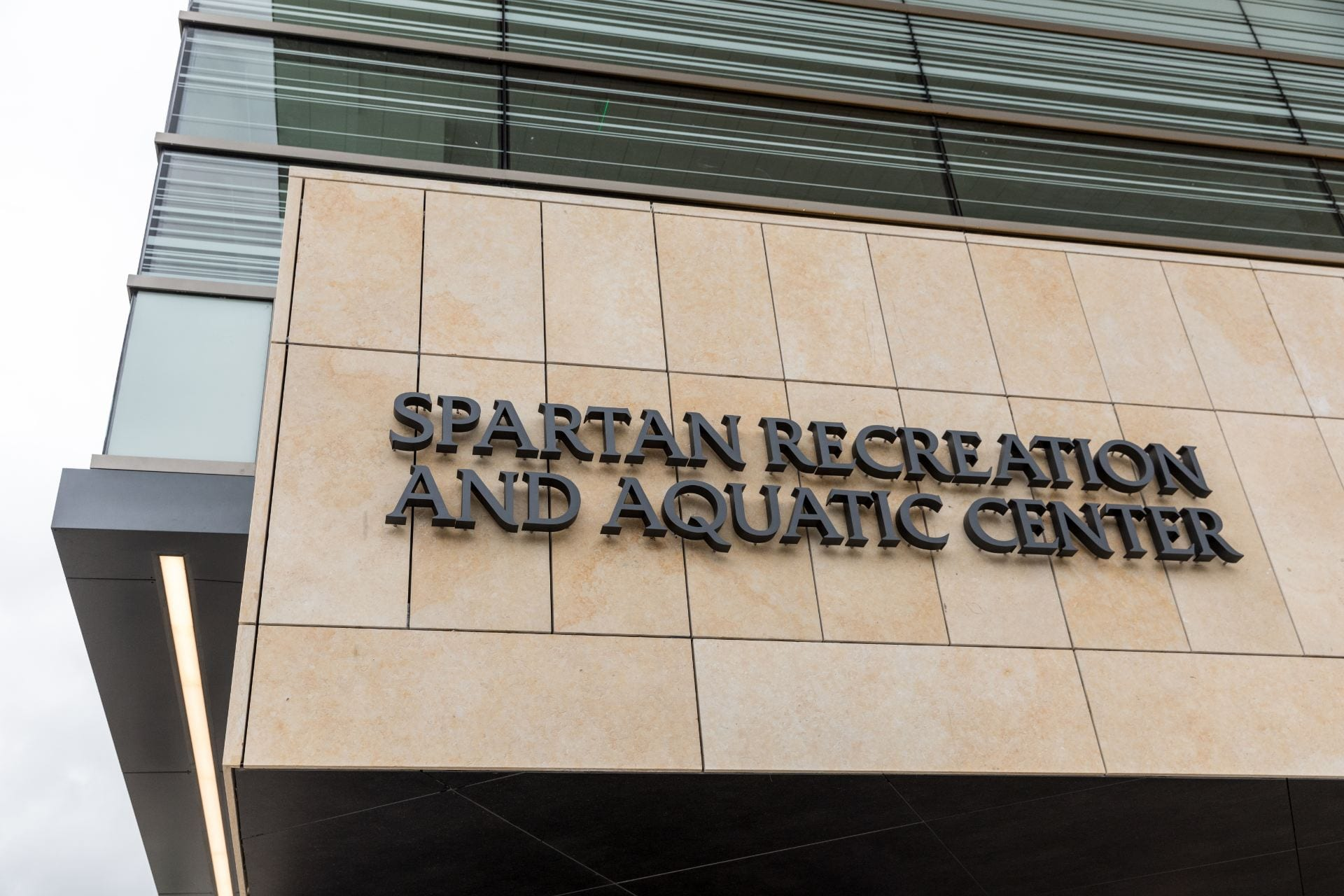 Students and community members are invited to a ribbon cutting for the Spartan Recreation and Aquatic Center on April 18. Photo by David Schmitz