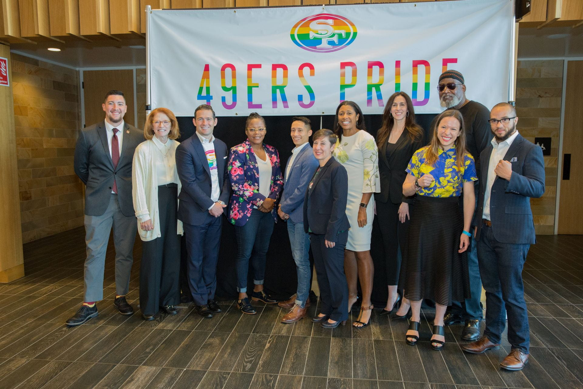 San Jose State University's Institute for the Study of Sport, Society and Social Change in partnership with the SAn Francisco 49ers hosted Words to Action: LGBTQ+ Activism in Sport May 29, at Levi's Stadium 501 Club. Photo by David Schmitz