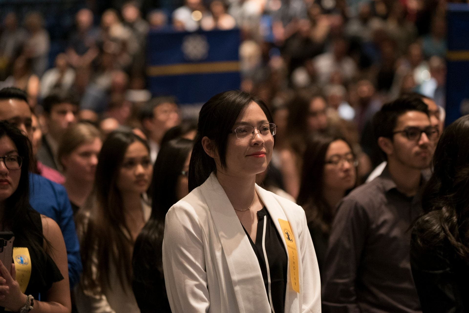 More than 1,300 President's Scholars were recognized at Honors Convocation May 3 in the Event Center at SJSU. Photo by Brandon Chew