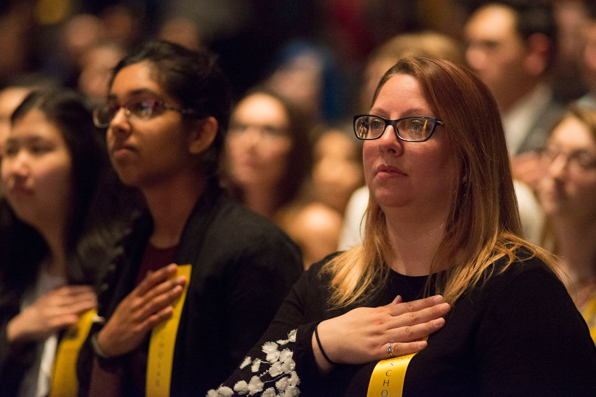 SJSU faculty, students, administrators and families gather to honor students with top GPAs at the 2018 Honors Convocation. Photo by Brandon Chew