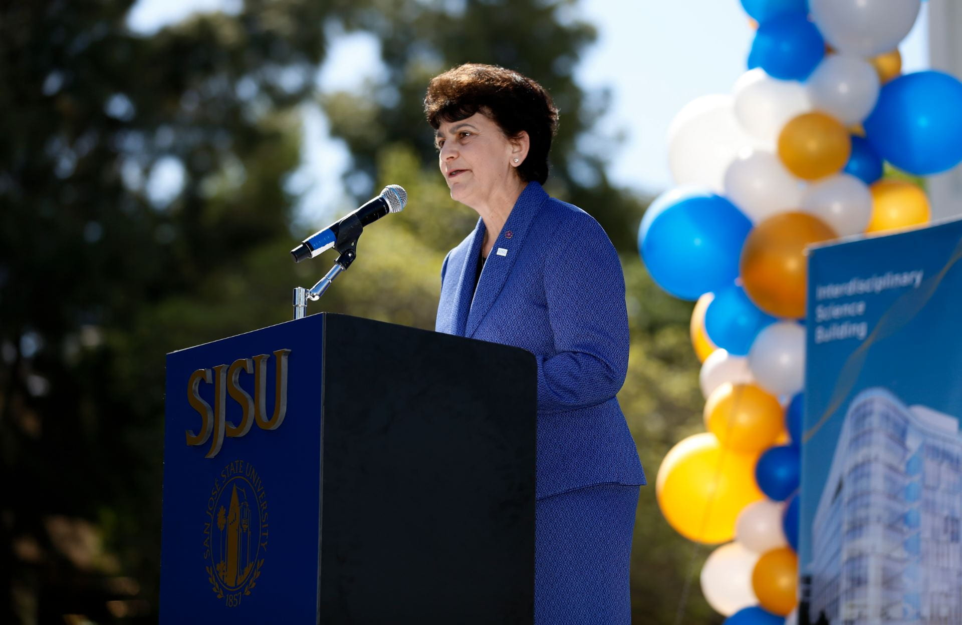 San Jose State University president Dr. Mary A. Papazian, was named to the Silicon Valley Business Journal's 2019 Women of Influence list. (Photo: Josie Lepe, '03 BFA Photography )