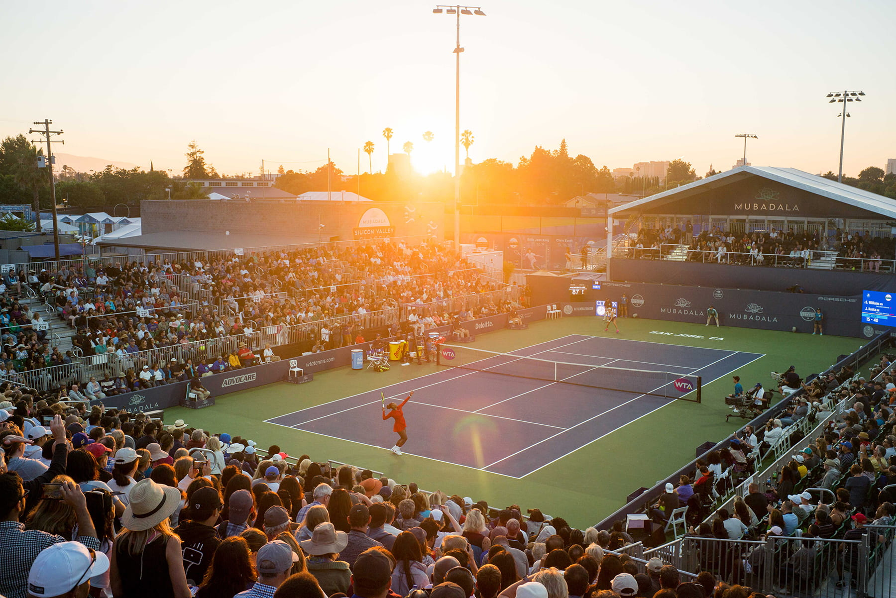 The Mubadala Silicon Valley Classic takes place at the new tennis courts at Spartan Stadium in San Jose, Calif. on Tuesday, July 31, 2018. (Photo: James Tensuan, '15 Journalism)