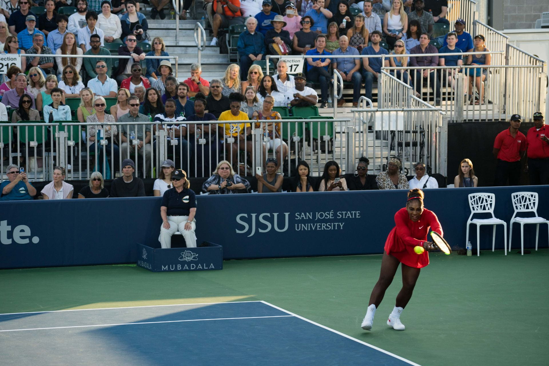 Venus Williams will compete in the Mubadala Silicon Valley Classic for the 15th year--and the second year at San Jose State--on July 30. (Photo: James Tensuan, '15 Journalism)