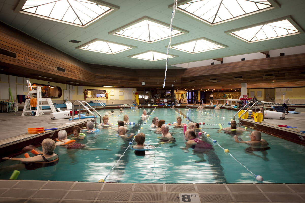 Interior shot of the Timpany Center therapeutic pool