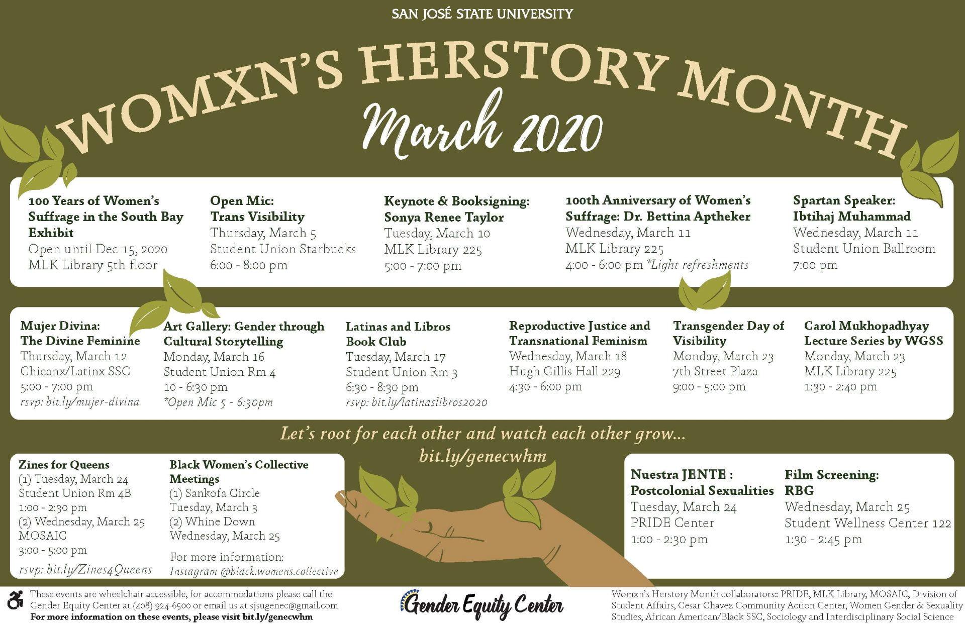 Womxn's Herstory Calendar 2020