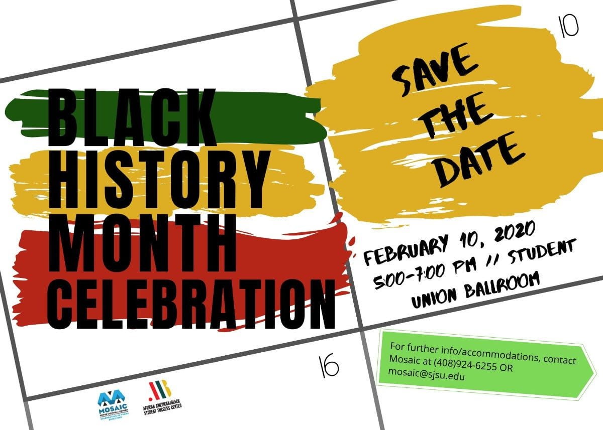 The Black History Month Celebration is on February 10.