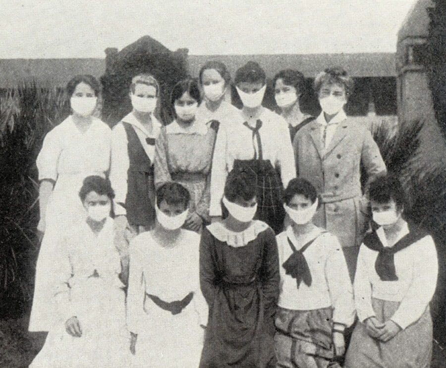 San Jose Normal School Students in 1918