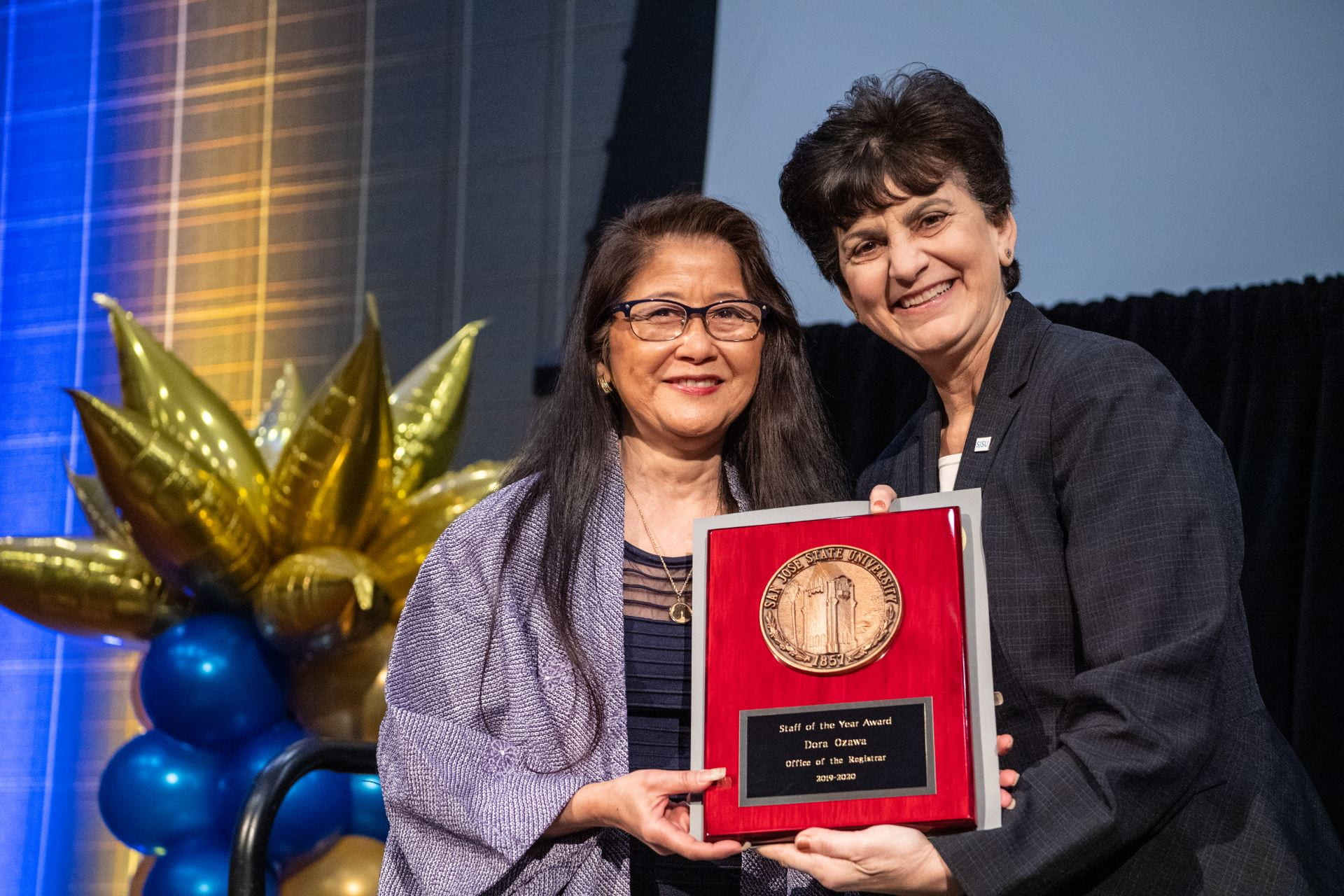 Dora Ozawa and President Papazian