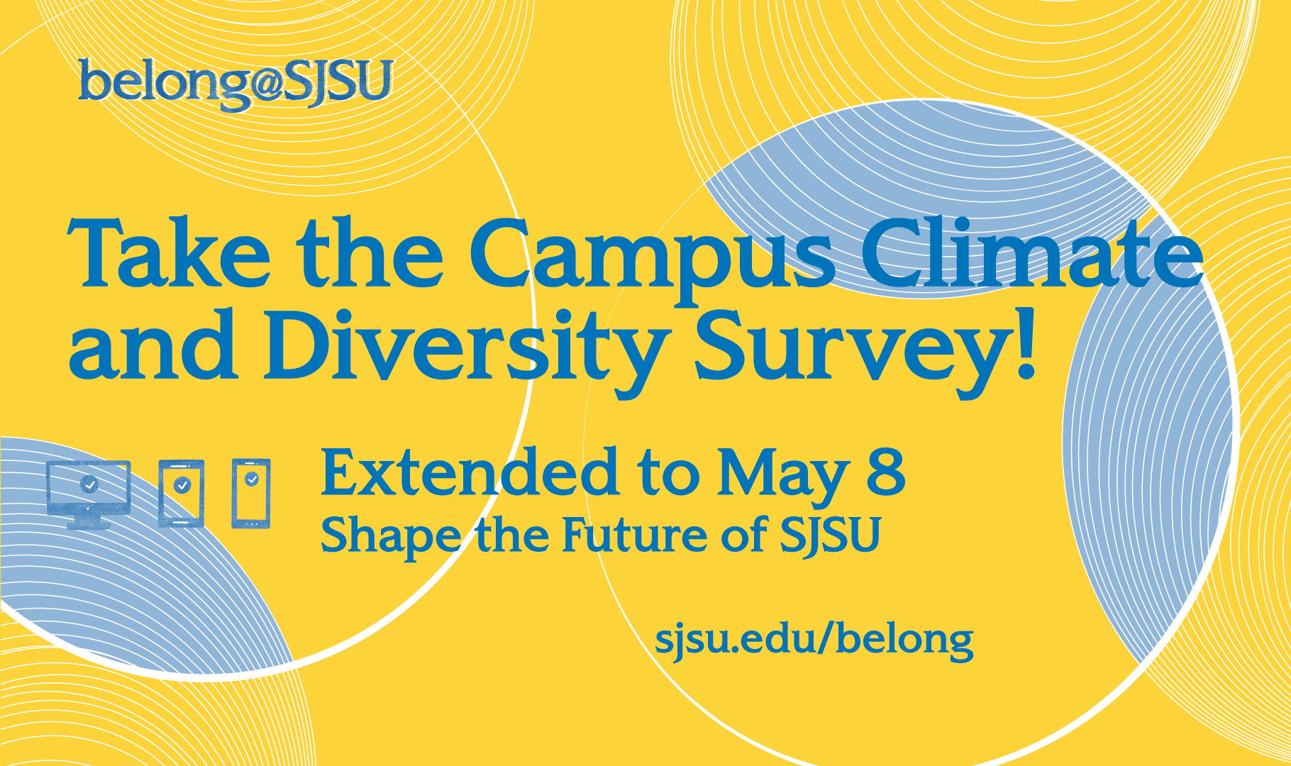 Take the campus climate survey ad.