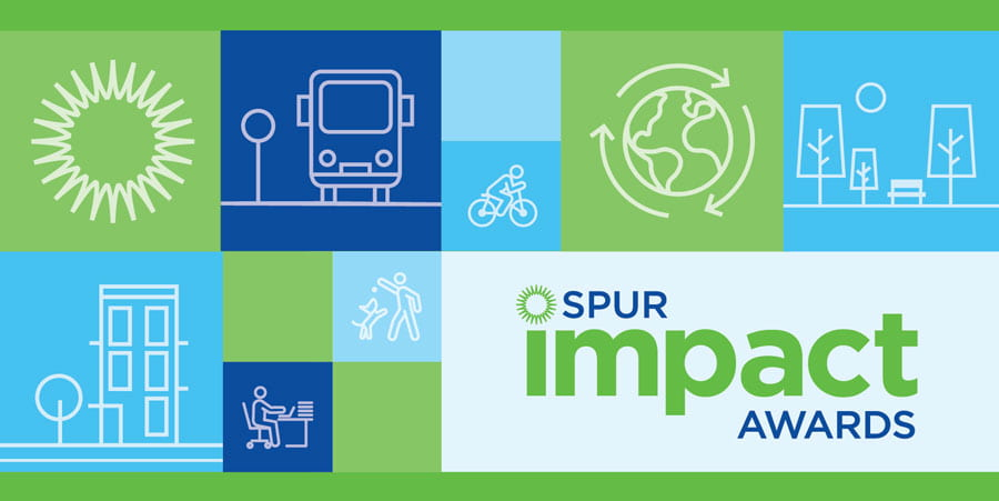 Graphic of illustrations that says SPUR impact awards.