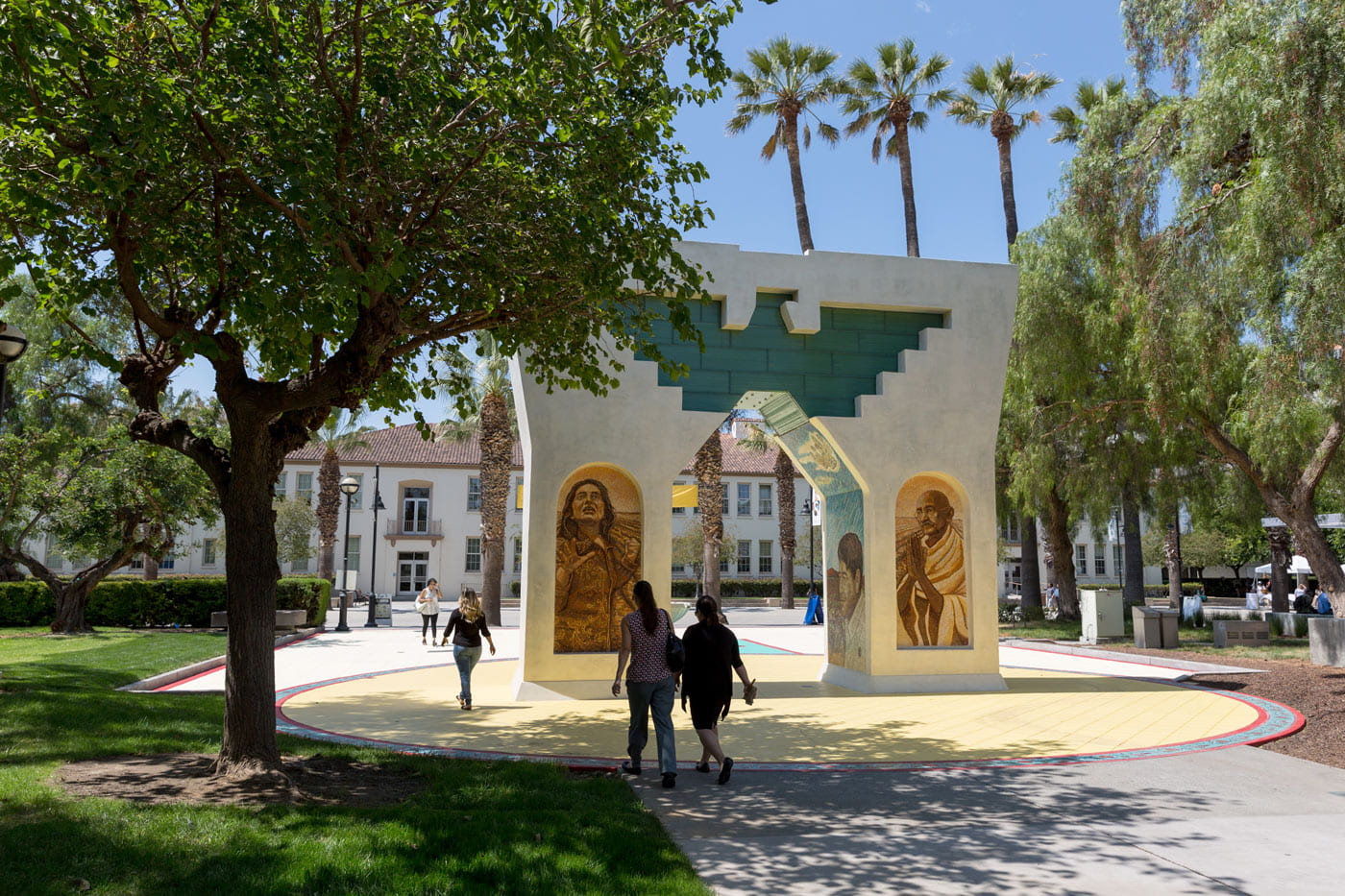 The Cesar E. Chavez Monument: Arch of Dignity, Equality and Justice on the grounds of SJSU.
