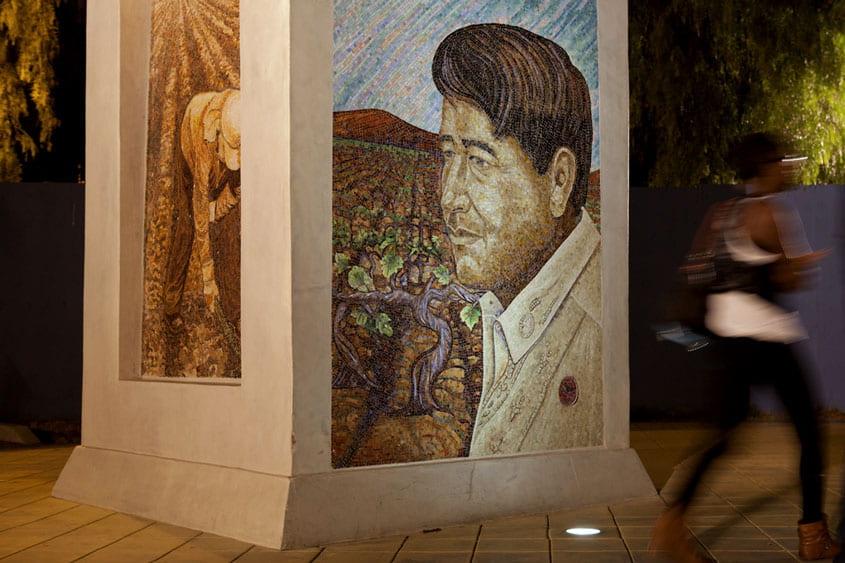 Mural of Cesar E. Chavez.