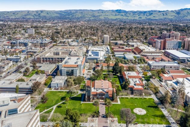 Aerial image of SJSU campus