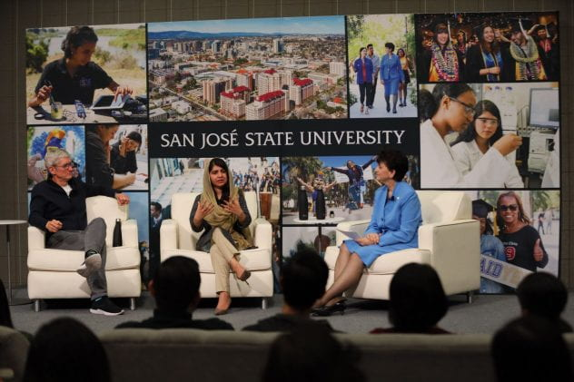 Tim Cook, Malala, and President Papazian