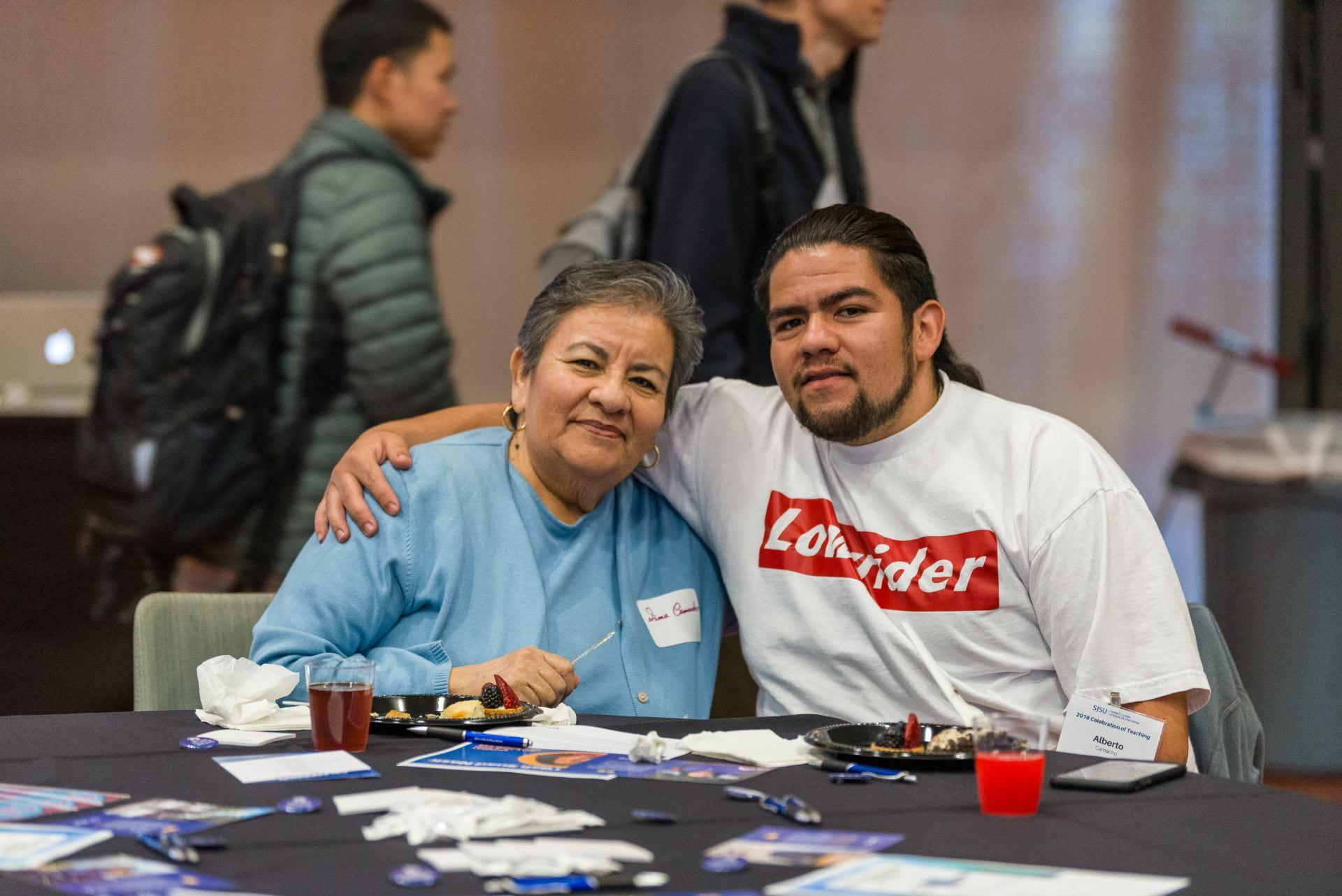 Alberto Camacho with his mother Irma.