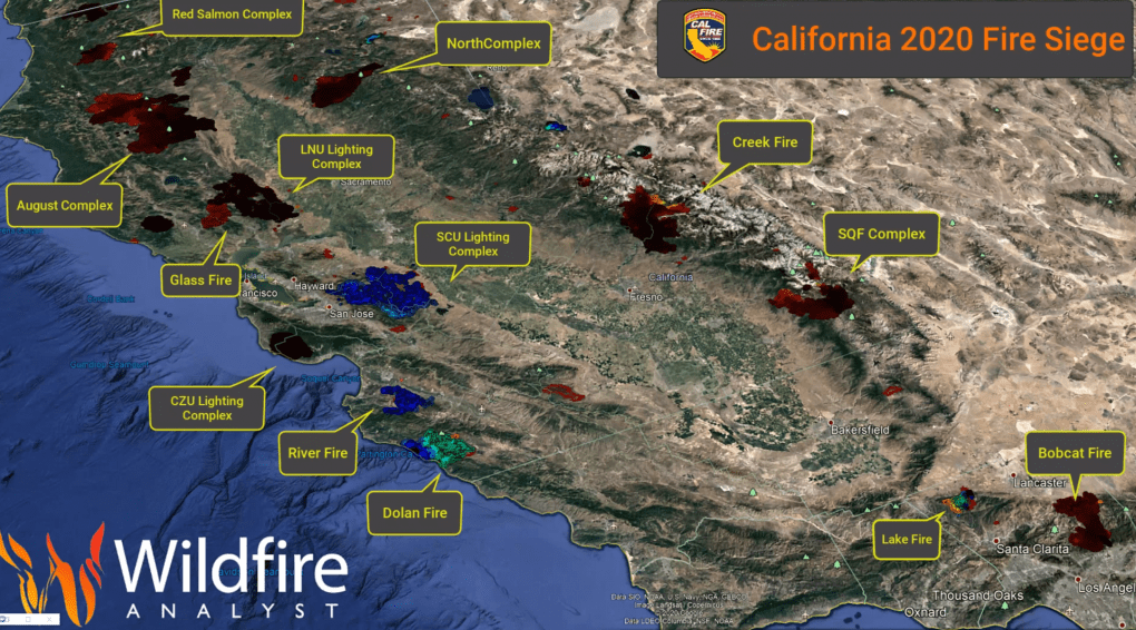 Wildfires in 2020 California