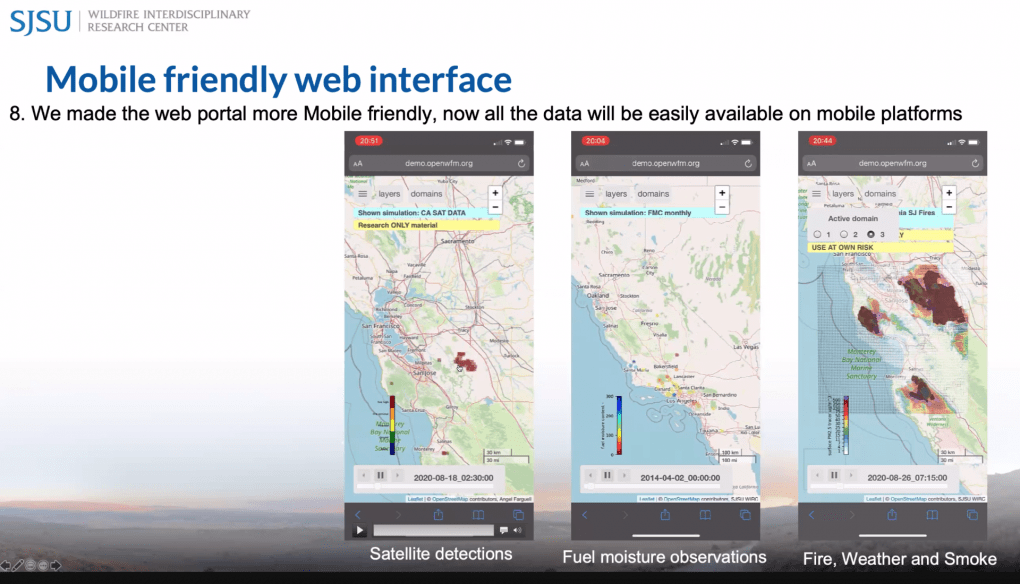 WRF-SFIRE is available on mobile platforms