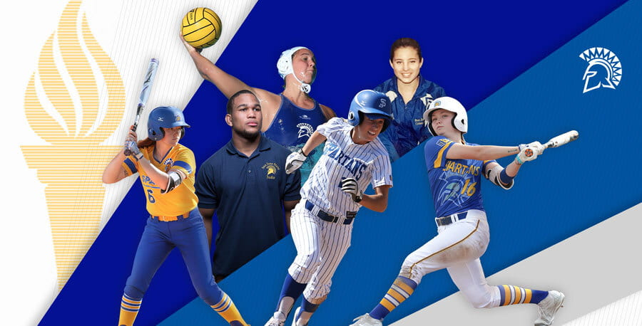 A picture of 6 SJSU alumni who will be competing at the 2020 Olympic Games in Tokyo