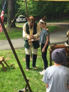 SOMS student takes part in scout demo during Grade 7 field trip to Salyer House