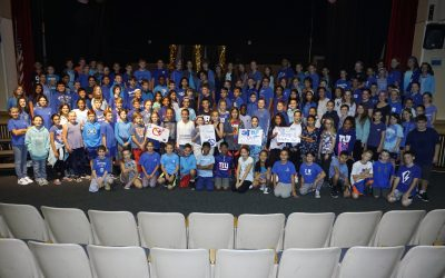 SOMS Students, Staff Wear Blue to Support Bullying Prevention