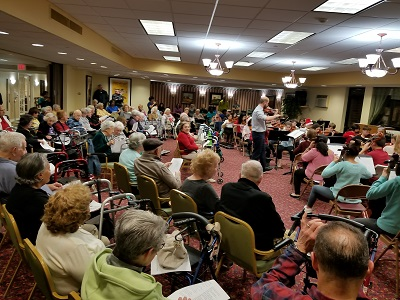 SOMS Strings Deliver Holiday Cheer to Local Seniors