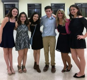 NJHS Executive Committee members and advisor Ms. Condon