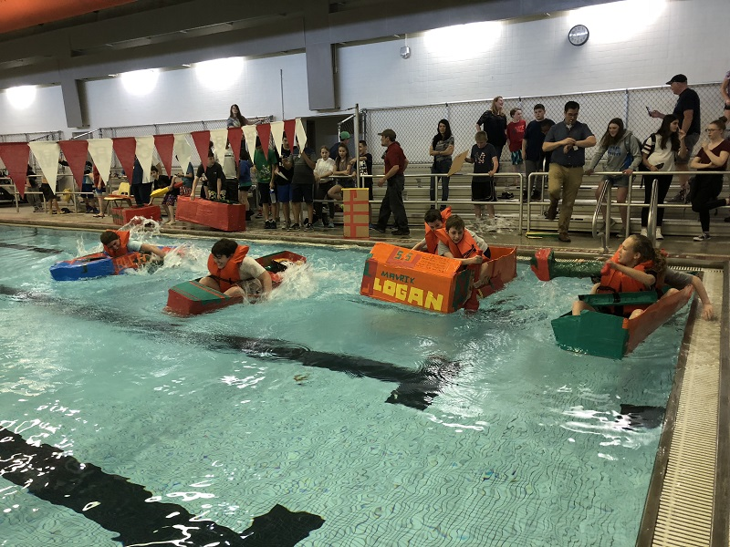 SOMS Hosts Third Annual Cardboard Boat Race