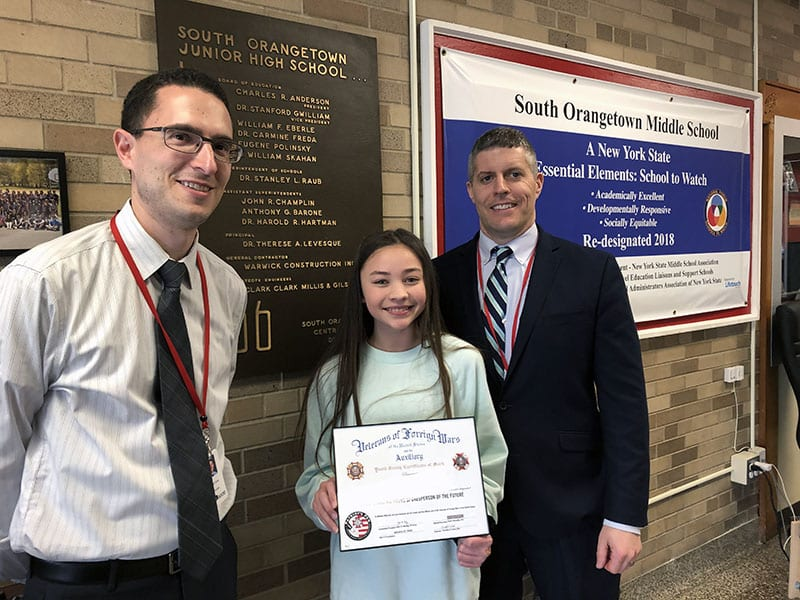 SOMS Patriot's Pen Winner Places Fourth in Regionals