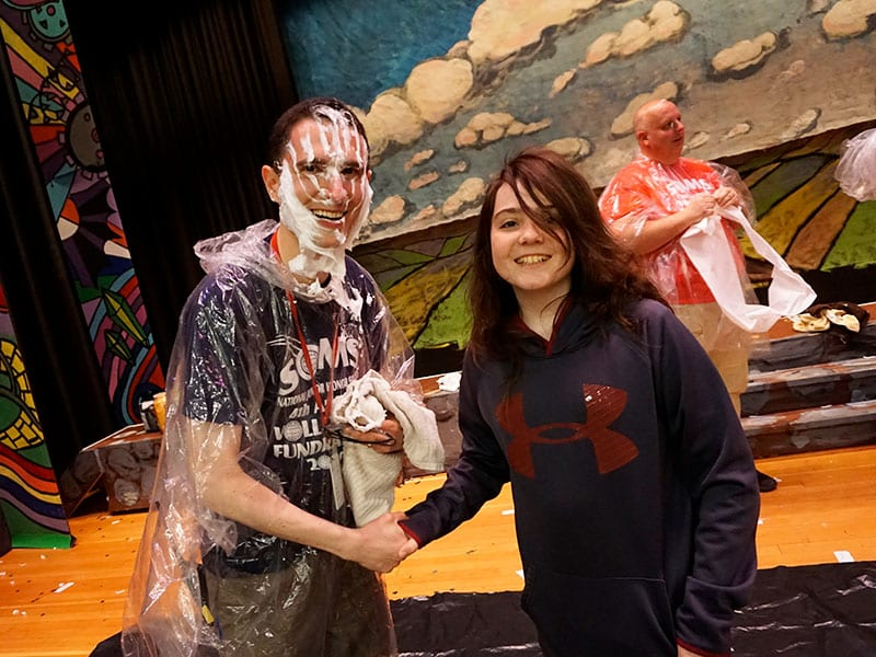 NJHS Pie in the Face Event Raises $1,089 for Hi Tor