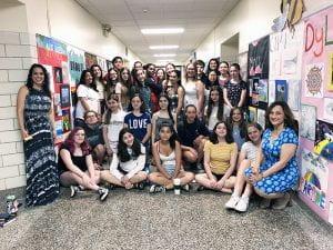 Studio Art students group photo with teachers