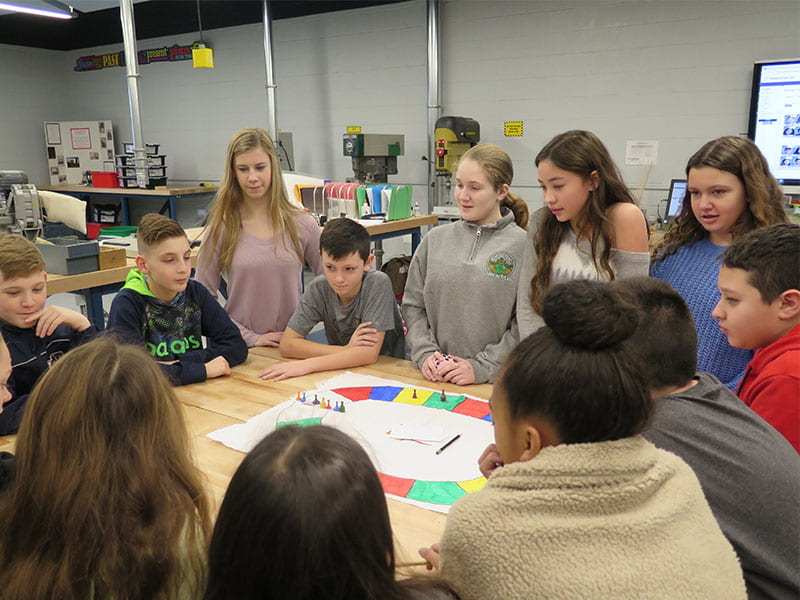SOMS Peer Leaders Connect with Sixth-Graders on Community Activism