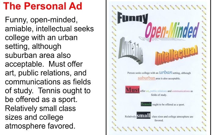 personal ad samples