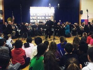 Orangetown Band performing at CLE