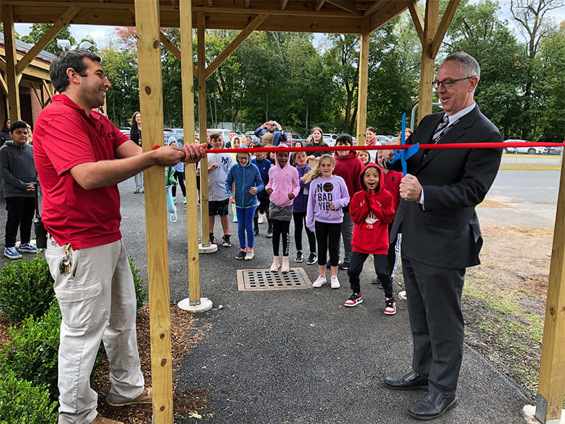 CLE Students Host Library, Playground Grand Opening