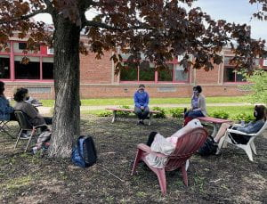 Outdoor Mindfulness session at TZHS