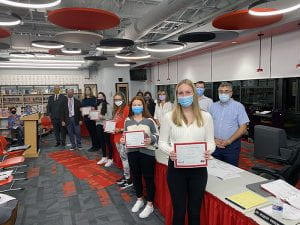 Summer STEAM Camp volunteers recognized at BOE event