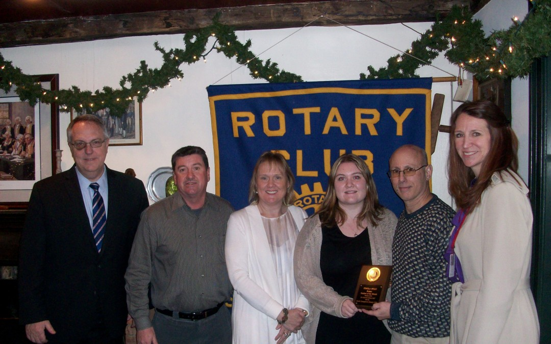 Finola Ryan is January Rotary Student of the Month