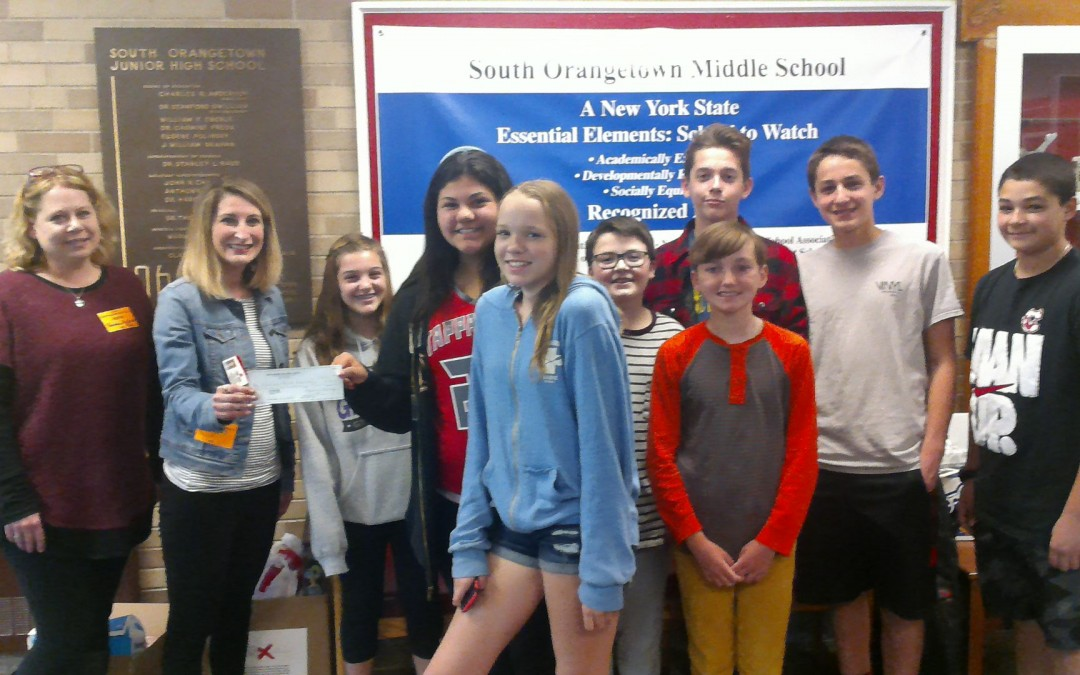 SOMS 7th Graders Pay it Forward to the HV American Heart Association