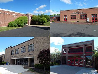 Facades of SOCSD's four school buildings