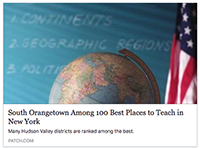 "SOCSD among NY's ""Best Places to Teach"""