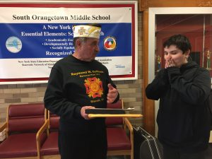 VFW Commander in Chief Antonucci surprises SOMS student with essay award