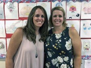 TZHS math teachers Christine O'Brien and Doreen Braunagel