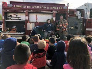 Firefighters speak to WOS students on Fire Prevention Day