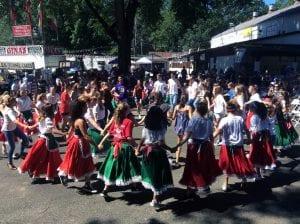 Students and community members perform Tarantella at annual Italian Feast