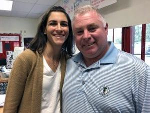 CLE teachers Kristin Cavanagh and Bill McAuliffe