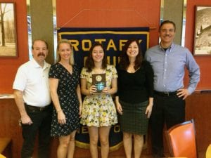 October TZHS Rotary Student of the Month Nicole G.