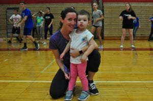 Penguin Plunge beneficiary with mom