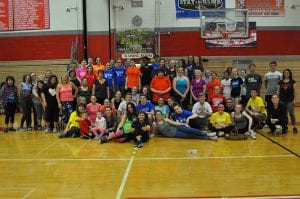 Group photo of Zumba for Charity participants