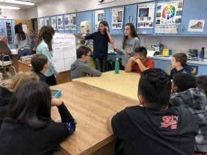 SOMS Peer Leaders present to sixth-graders