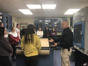 Forensic Science students in Sheriff's crime lab